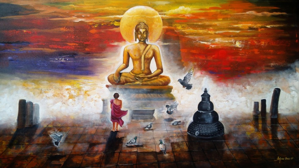 buddha and monk child #4