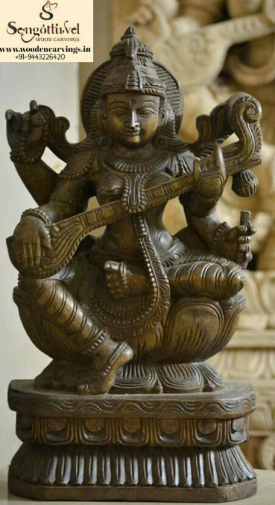 Goddess Saraswathi playing Veena