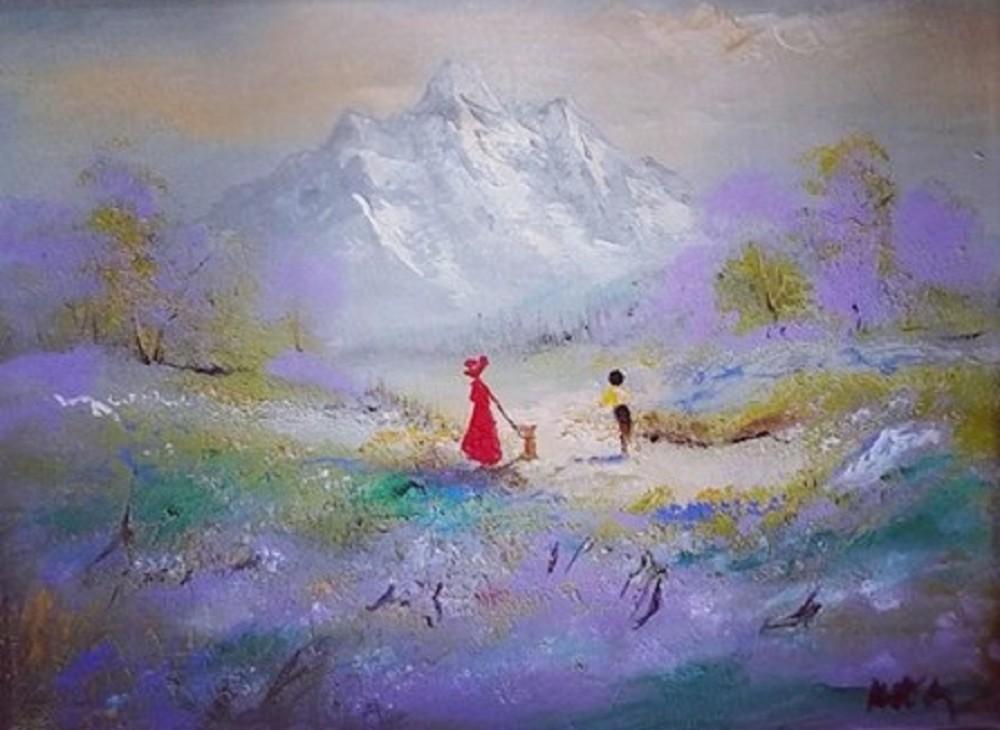 A walk through lavender field