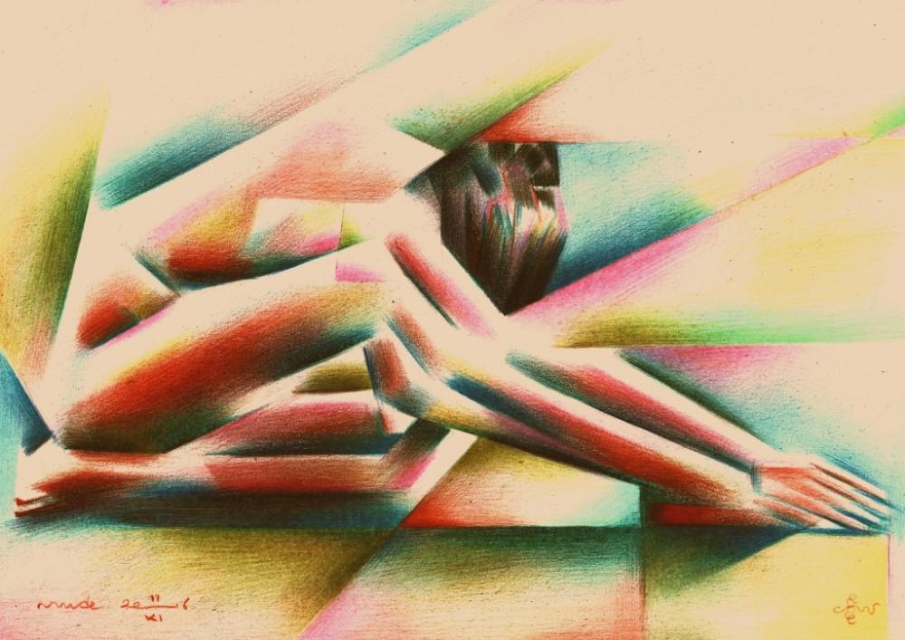 Cubistic nude - 11-11-16