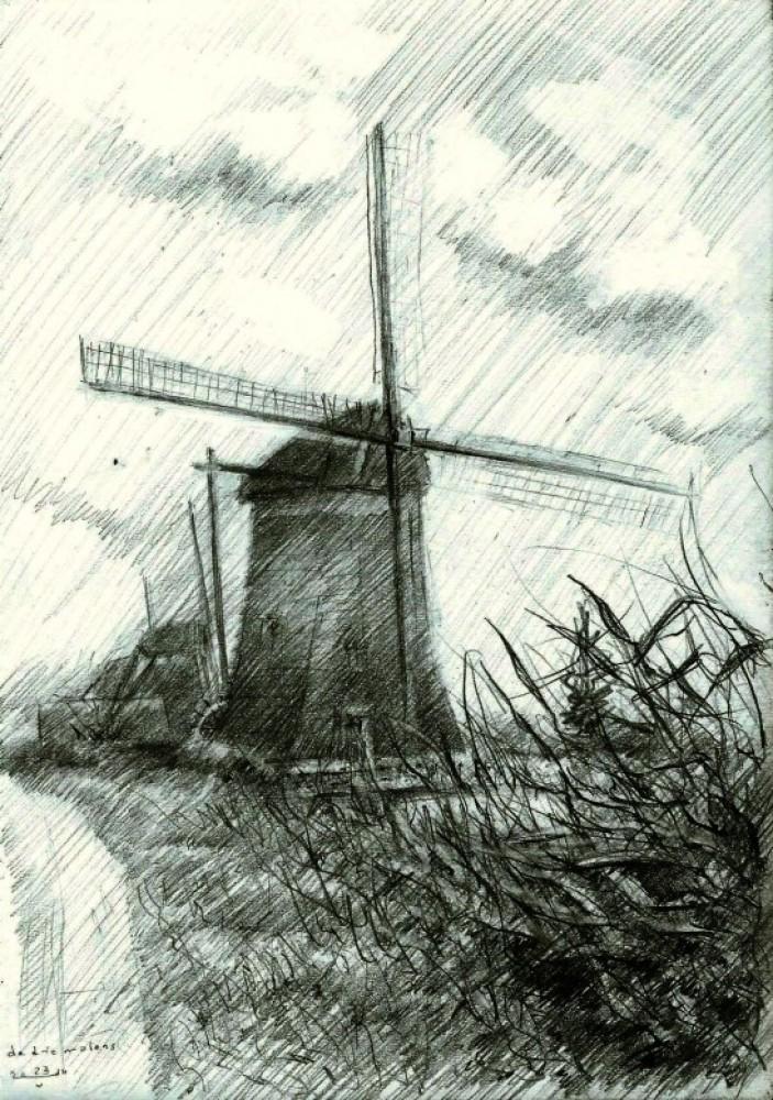 Three mills near Leidschendam - 23-05-14