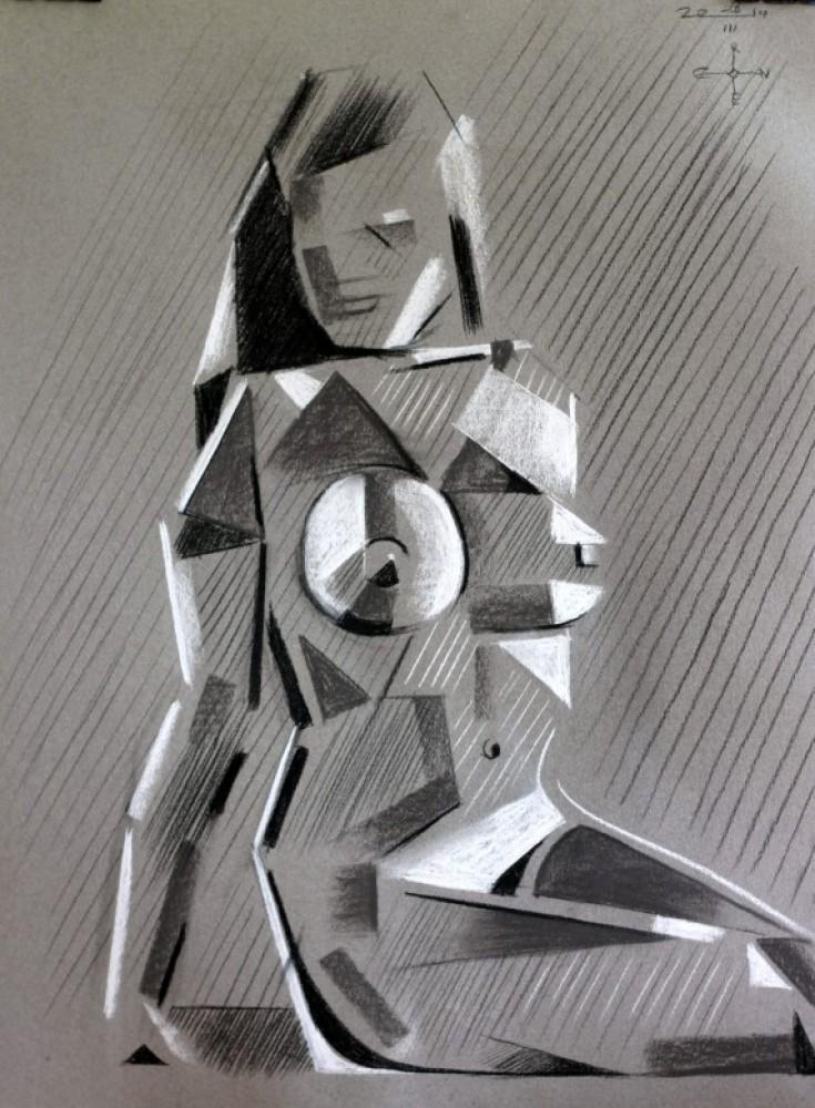 Cubistic nude - 28-03-14
