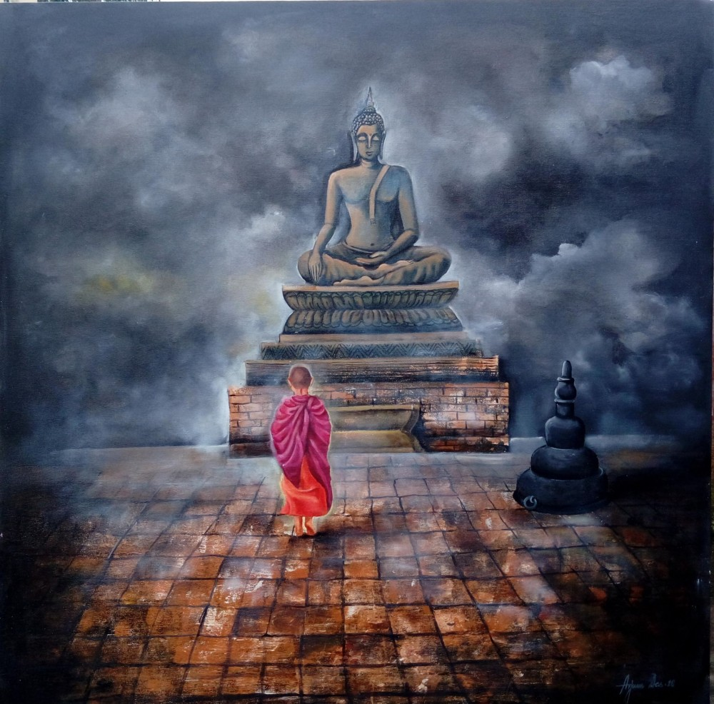 Buddha and monk child