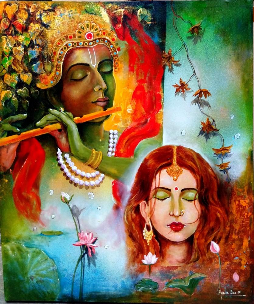 krishna sang Radhe